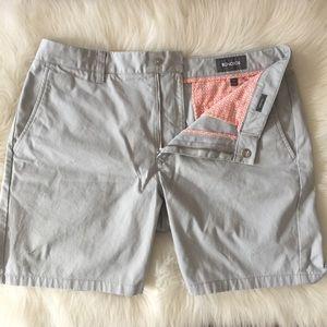 New Bonobos Washed Chino Shorts 34 7 Light Gray